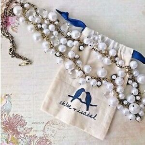 Chloe + Isabel Pearl and Crystal Drops Necklace